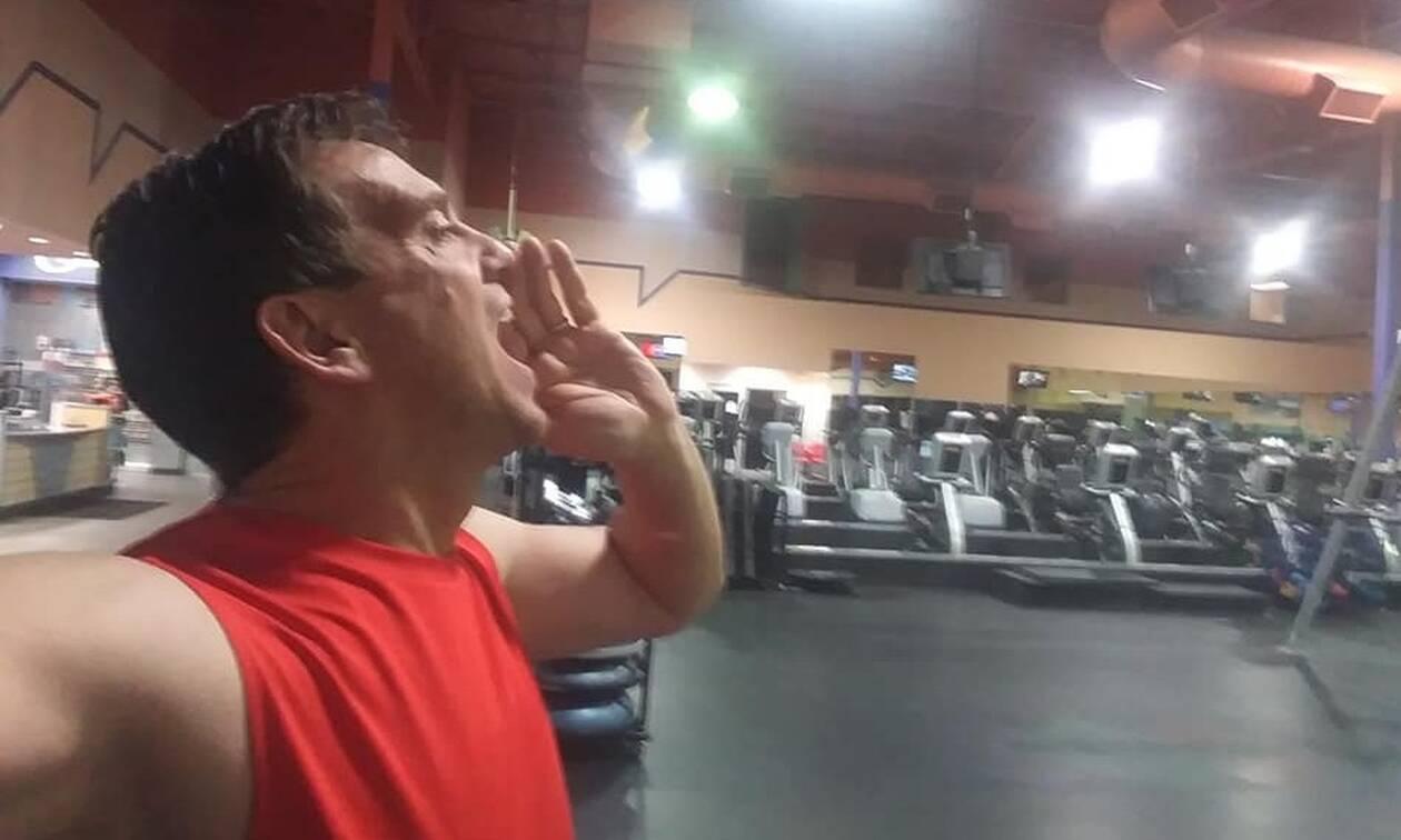 Πήγε στο γυμναστήριο, τον κλείδωσαν και έφυγαν - Δείτε τι έκανε (pics)