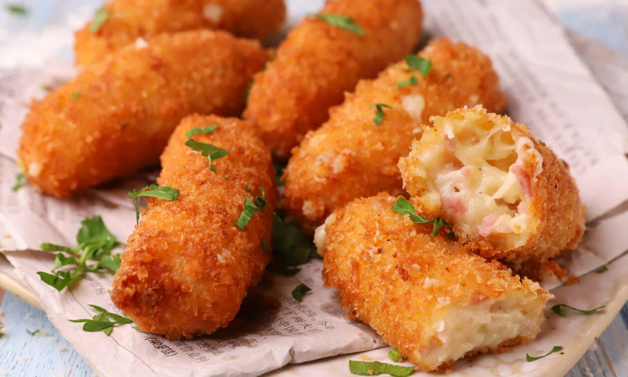 H αλμυρή συνταγή της ημέρας είναι... Κροκέτες με ζαμπόν και τυρί