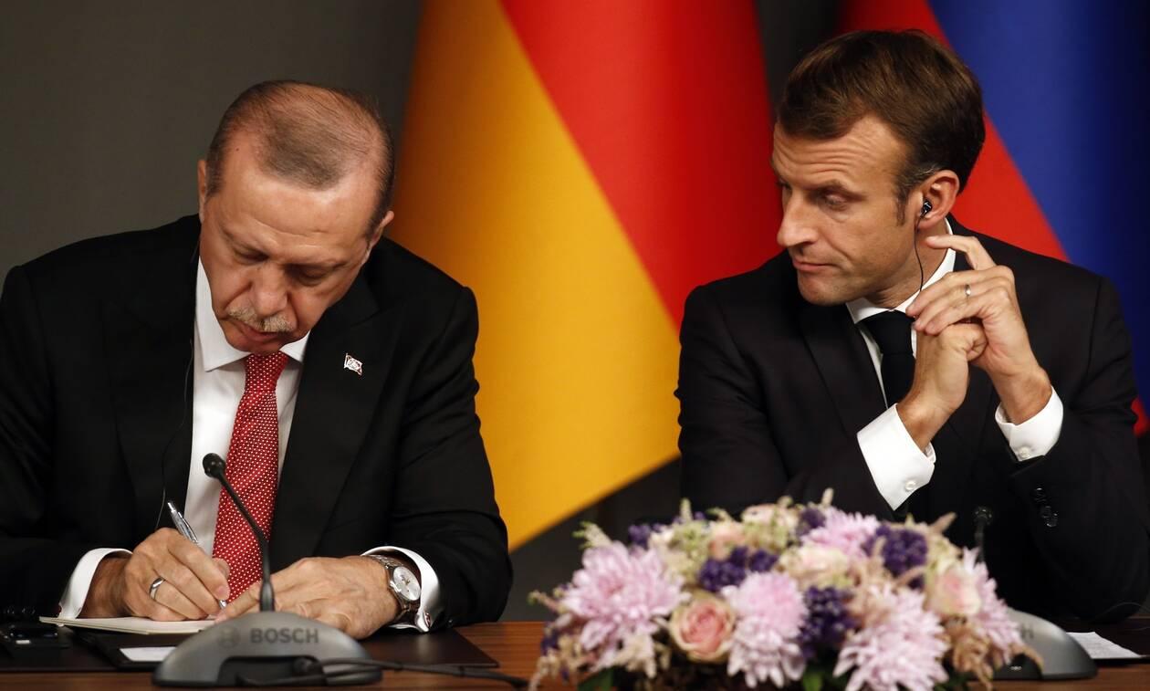 «Χαστούκι» Μακρόν σε Ερντογάν: Το μνημόνιο αμφισβητεί τα δικαιώματα Ελλάδας - Κύπρου
