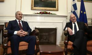 Δένδιας: Συμφωνήσαμε σε όλα με τον Χαφτάρ - Τι είπαν στην 90λεπτη συνάντηση