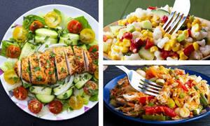 Επτά σαλάτες ιδανικές για απώλεια βάρους (vid)