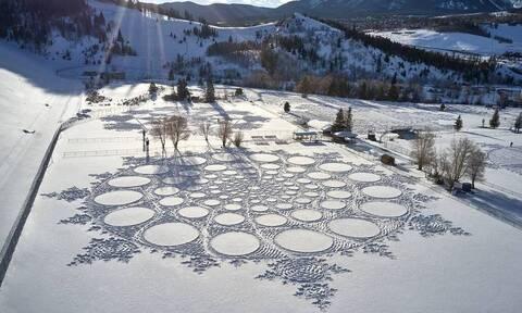Απο μηχανικός... καλλιτέχνης: Όταν το χιόνι γινεται καμβάς