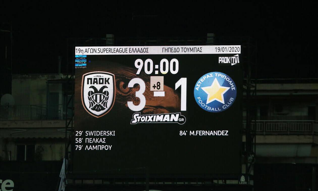 ΠΑΟΚ-Αστέρας Τρίπολης 3-1: Τρίποντο με VAR αλλά χωρίς... γκάζια (photos+video)