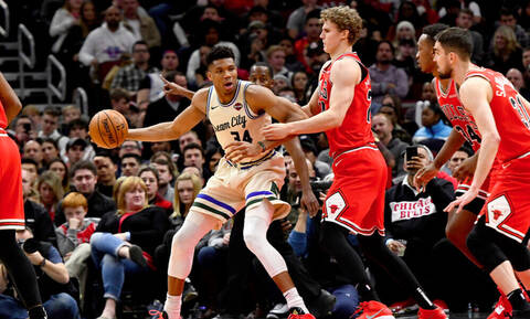 NBA: Μαγικός Αντετοκούνμπο οδηγεί τους Μπακς (video)