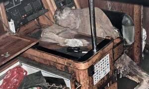 Πλοίο - φάντασμα περιπλανιόταν με το νεκρό καπετάνιο του στο πηδάλιο για χρόνια (ΣΚΛΗΡΕΣ ΕΙΚΟΝΕΣ)