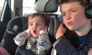 Δείτε τι βλέπει το μωρό και αντιδρά με αυτό τον τρόπο (vid)