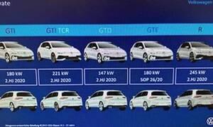 Τα γρήγορα νέα VW Golf θα έχουν από 245 (GTI) έως 333 ίππους (R) και το GTD 200