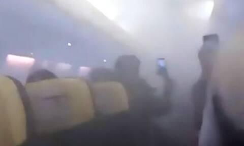 Πανικός σε πτήση - Η καμπίνα γέμισε καπνούς και ακολούθησε αναγκαστική προσγείωση (pics+vid)