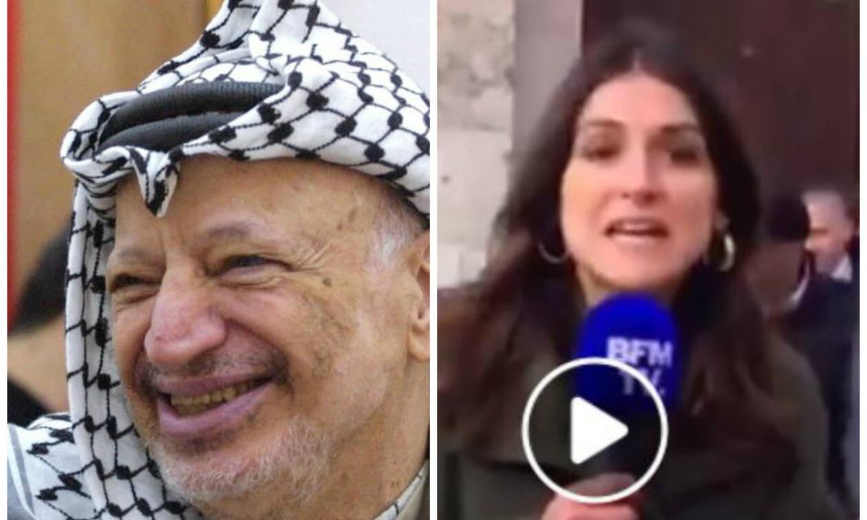 Παγκόσμια γκάφα: Δημοσιογράφος ανακοινώνει πως ο Μακρόν θα συναντηθεί με τον μακαρίτη Αραφάτ