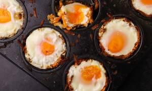 H συνταγή της ημέρας: Φωλιές από πατάτα γεμιστές με αυγό