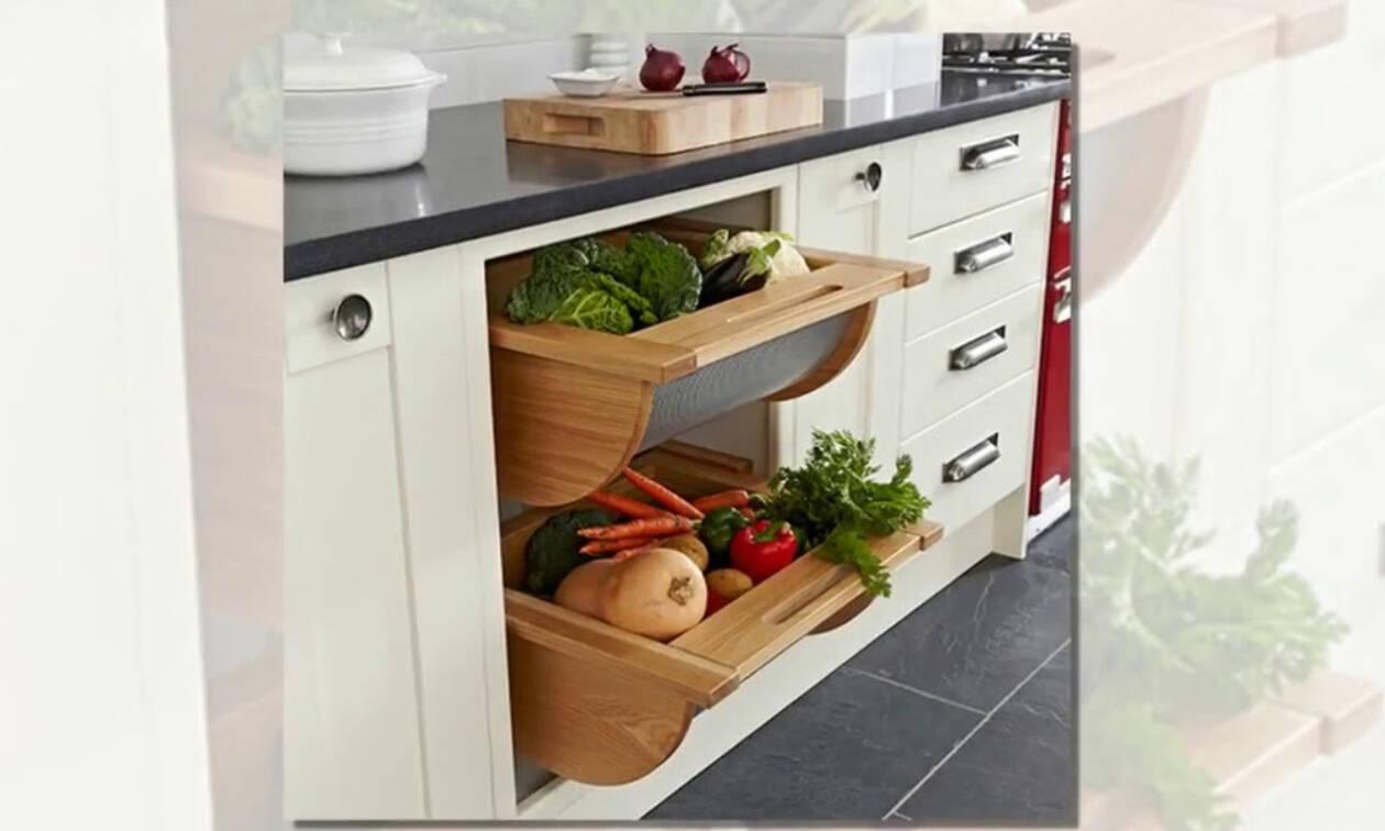 Iδέες αποθήκευσης για μικρές κουζίνες που θα σας λύσουν τα χέρια (vid)