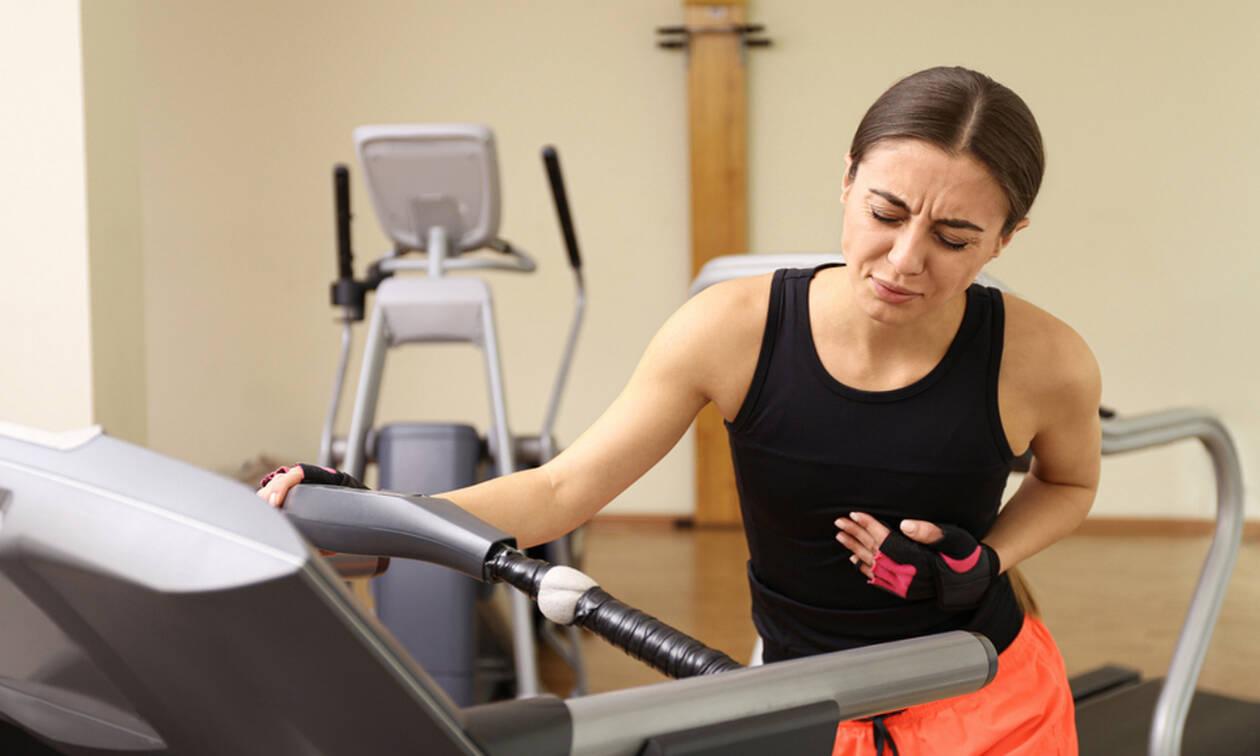 Άσκηση: Ενδείξεις ότι πρέπει να την διακόψετε αμέσως
