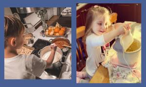 Διάσημες Ελληνίδες μαμάδες που λατρεύουν να μαγειρεύουν με τα παιδιά τους (pics)