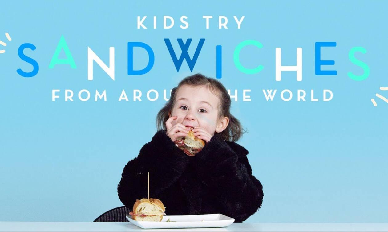 Παιδιά δοκιμάζουν παραδοσιακά σάντουιτς από διάφορες χώρες & οι αντιδράσεις τους είναι όλα τα λεφτά