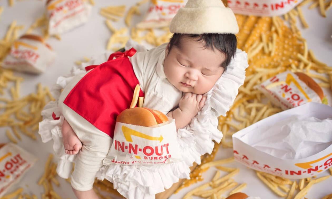 Μωράκι ντύθηκε burger και είναι… για «φάγωμα» (pics)