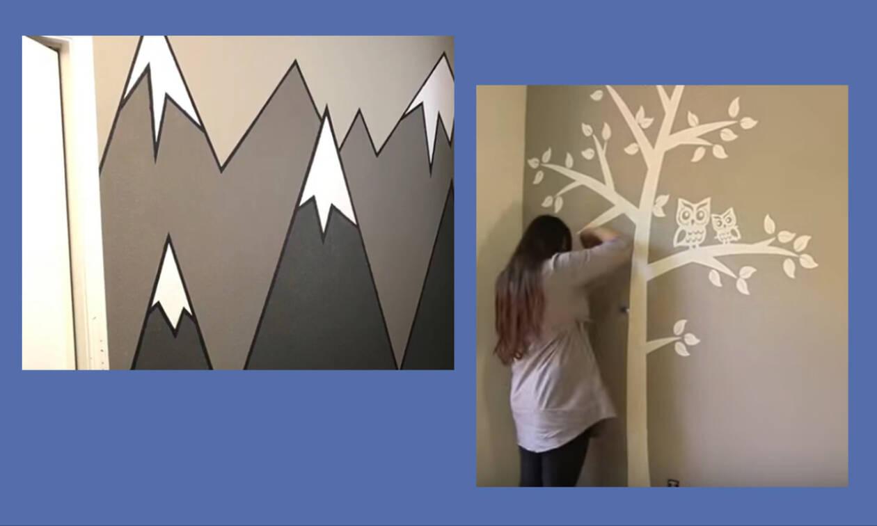 Εκπληκτικές τοιχογραφίες για το παιδικό δωμάτιο – Δείτε πώς θα τις φτιάξετε βήμα βήμα (vid)