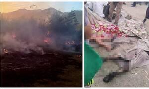 Τραγωδία: Έντεκα αγόρια κάηκαν ζωντανά ενώ κυνηγούσαν κουνέλια για να φάνε – Εικόνες-σοκ