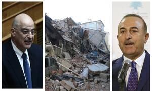 Φονικός σεισμός στην Τουρκία: Το «ευχαριστώ» του Τσαβούσογλου στον Δένδια στα... ελληνικά