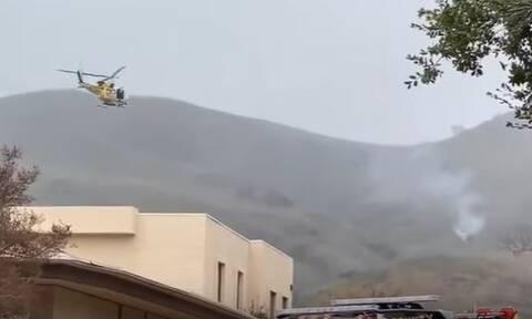 Κόμπι Μπράιαντ: Βίντεο ντοκουμέντο από το σημείο που συνετρίβη το ελικόπτερο του θρύλου του NBA
