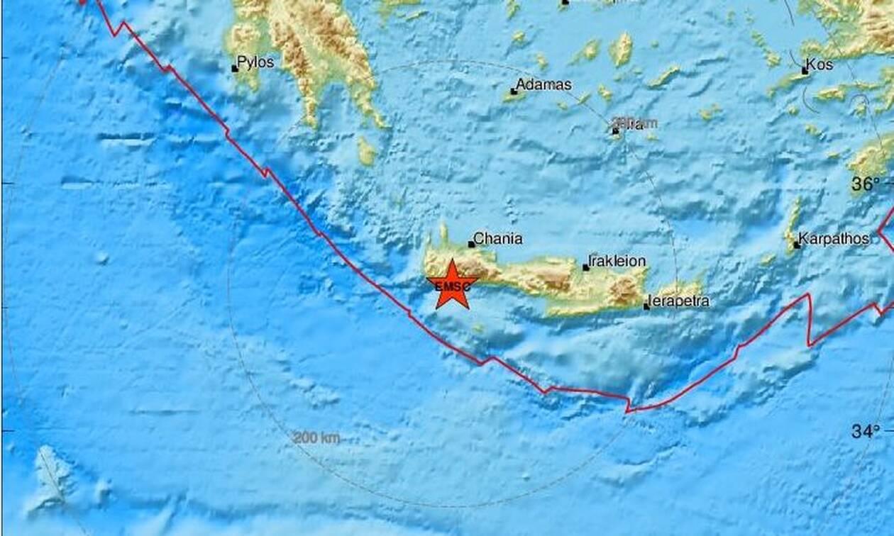 Σεισμός ΤΩΡΑ νότια των Χανίων (pics)