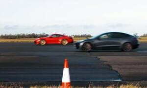 Θα νικήσει το Tesla Model 3 την Porsche 911 Carrera S;