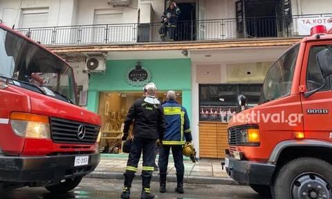 Έσβησε η φωτιά σε διαμέρισμα στο κέντρο της Θεσσαλονίκης (vid)