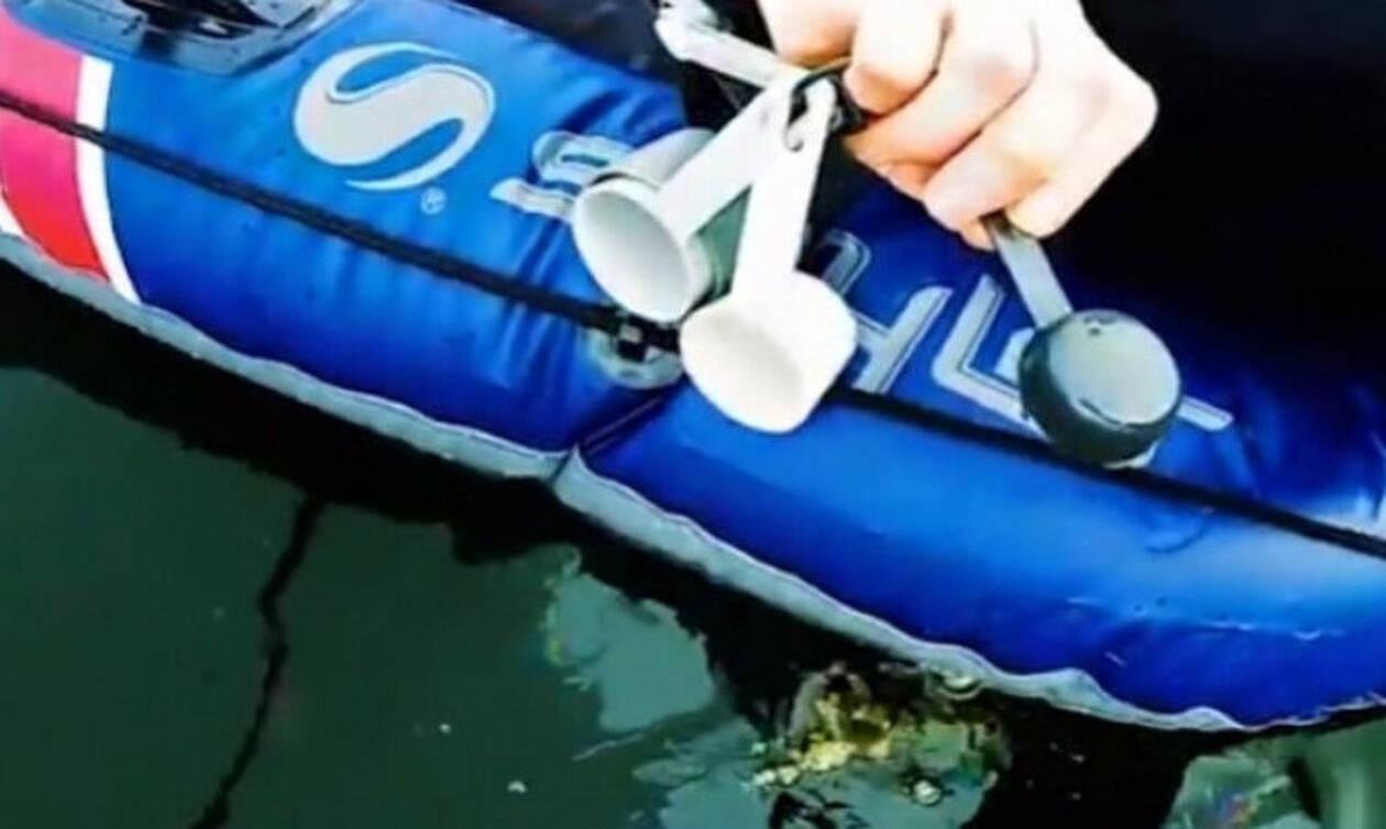 Απίστευτο: Έριξε ένα κουταλάκι λάδι μέσα στην λίμνη - Αυτό που ακολούθησε θα σας σοκάρει