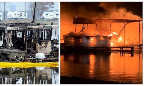 Φρίκη στον ποταμό Τενεσί: Κάηκαν ζωντανοί στα πλωτά σπίτια τους - Εικόνες-σοκ