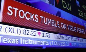 Ο κοροναϊός έπληξε τη Wall Street - «Βουλιάζει» η τιμή του πετρελαίου