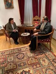 Μητροπολίτης Συμεών Συνάντηση με την Υπουργό Πολιτισμού Λίνα Μενδώνη