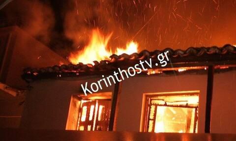 Τραγωδία στη Κορινθία: Νεκρή ηλικιωμένη από φωτιά στο σπίτι της