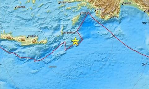 Σεισμός κοντά σε Κάρπαθο και Ρόδο - Αισθητός σε αρκετές περιοχές (pics)