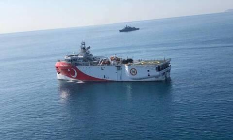 Turkish exploration vessel 'ORUC REIS' at extreme SE edge of Athens' FIR