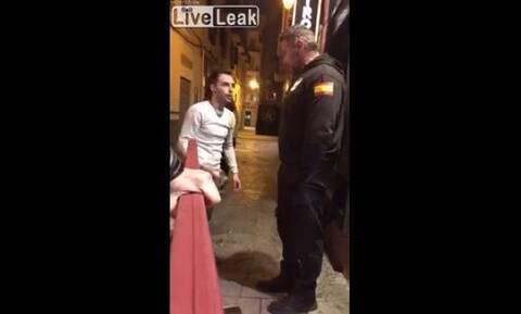 Έκανε τον μάγκα σε πορτιέρη - Την συνέχεια δεν την περίμενε με τίποτα (vid)