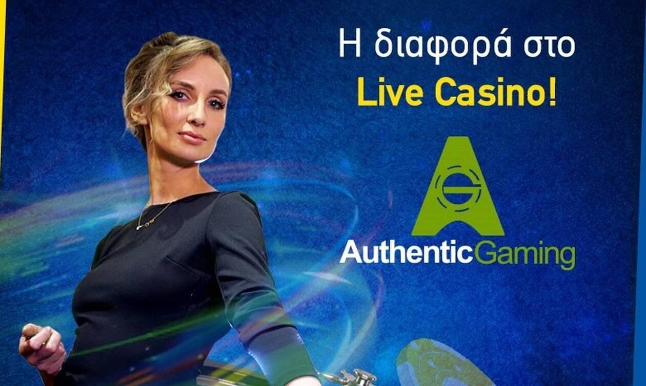 H betshop.gr έφερε την Authentic Gaming και σε... βάζει σε πραγματικές αίθουσες casino!