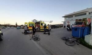 Κρήτη: Αυτοκίνητο συγκρούστηκε με ποδηλάτες – Τουλάχιστον 3 τραυματίες (pics)