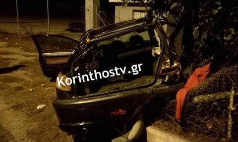 Τραγωδία στην Κορινθία: Νεκρός 22χρονος σε φρικτό τροχαίο