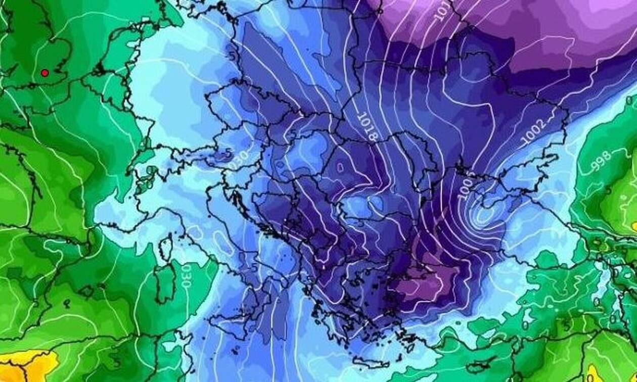Καιρός: Πώς θα κινηθεί η ψυχρή μάζα πάνω απ' την Ελλάδα. Πού θα χιονίσει από Τετάρτη μέχρι Παρασκευή