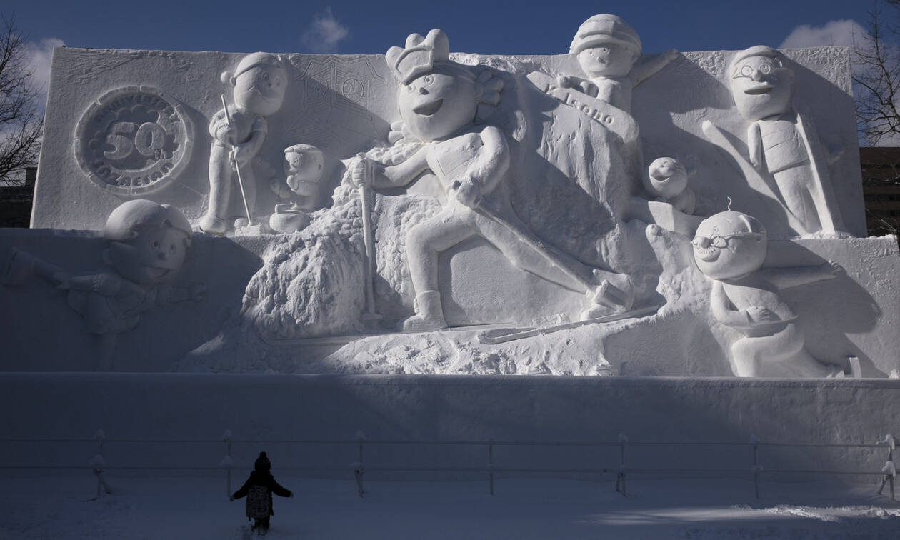 Ιαπωνία: Αγάλματα από πάγο σαν... αληθινά - Δείτε τις εντυπωσιακές εικόνες