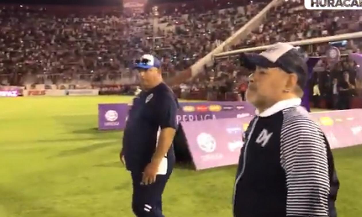 Η απίστευτη αντίδραση του Ντιέγκο Μαραντόνα σε αγώνα στην Αργεντινή