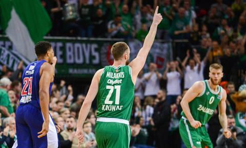 Ζαλγκίρις Κάουνας – Ολυμπιακός 94-69: «Ναυάγιο» στη Λιθουανία και η οκτάδα... χάνεται