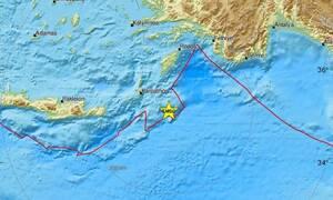 Σεισμός ΤΩΡΑ: Νέα σεισμική δόνηση νοτιοανατολικά της Καρπάθου (pics)