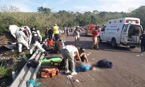 Μεξικό: Τραγικό τροχαίο με μετανάστες - Φορτηγό έπεσε σε χαντάκι
