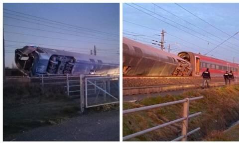 Τραγωδία στην Ιταλία: Τρένο εκτροχιάστηκε κοντά στο Μιλάνο - Νεκροί και τραυματίες (pics)