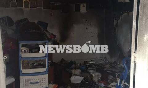 Φωτιά σε διαμέρισμα στον Υμηττό (pics&vid)