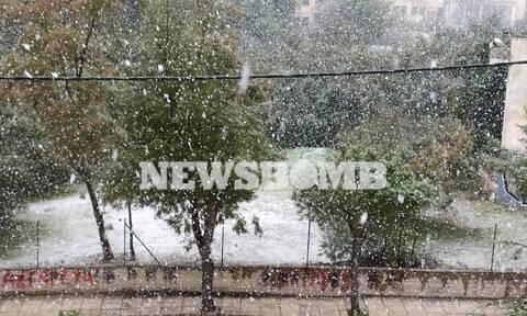 Καιρός: Χιόνια και τσουχτερό κρύο στην Αττική - Η εξέλιξη της κακοκαιρίας (pics&vids)