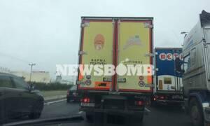 Καιρός: Κλειστή η Εθνική Οδός Αθηνών - Λαμίας για τα φορτηγά