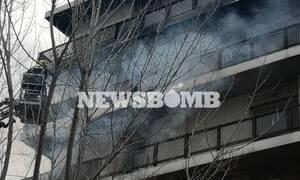 В Афинах при пожаре в Палео Фалиро спасли пожилую женщину