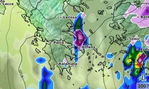 Καιρός: Προσοχή! Χιονόπτωση και στην Αθήνα τις επόμενες ώρες! Καρέ - καρέ η εξέλιξη (videos)