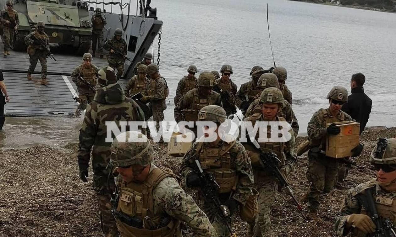Απόβαση Ελλήνων, Γάλλων και Αμερικανών στη Σκύρο - Το Newsbomb.gr στην άσκηση «Μέγας Αλέξανδρος»